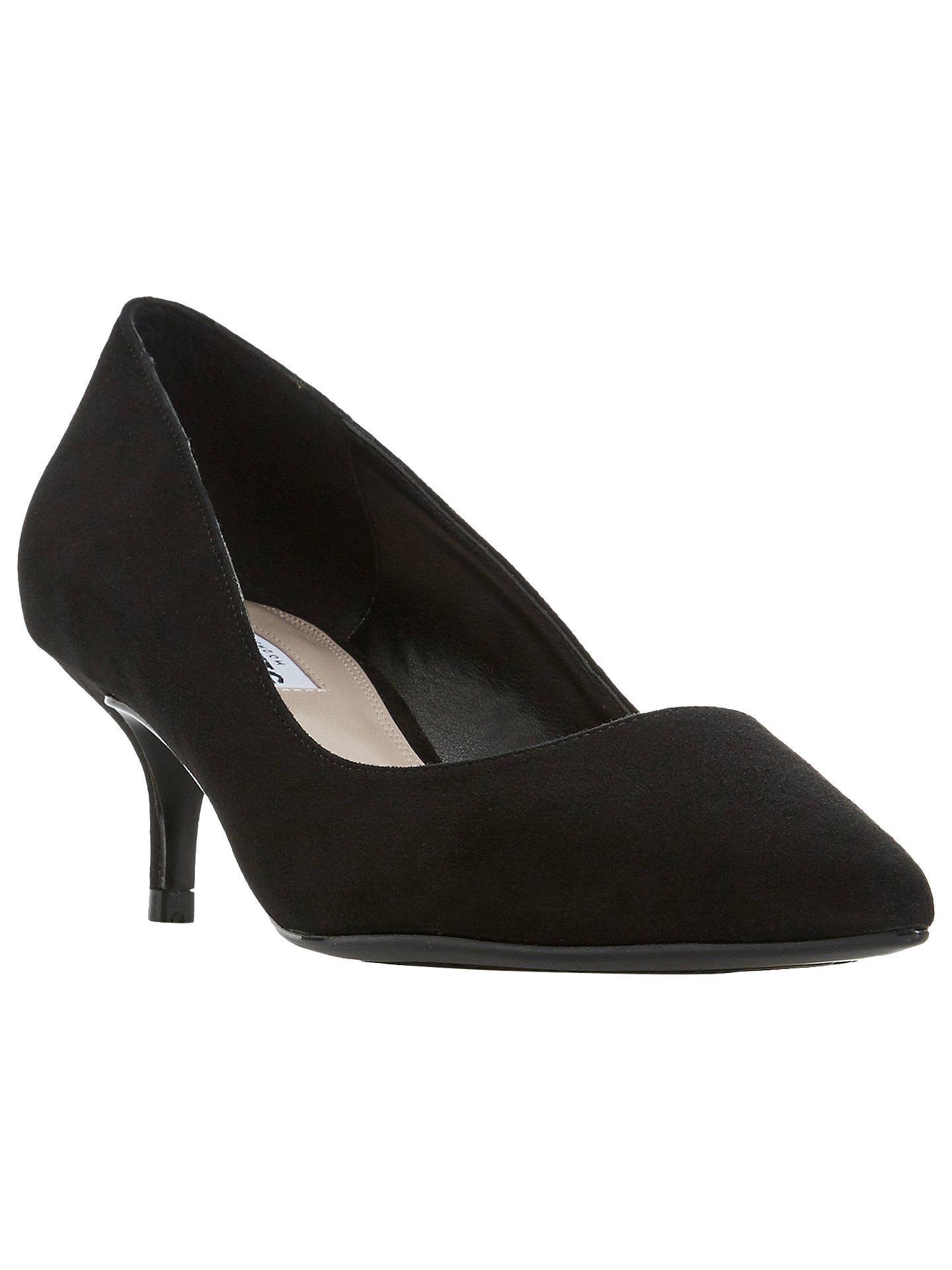60bac45c5b Buy Dune Alesandra Pointed Kitten Heel Shoes, Black Suede, 3 Online at  johnlewis.