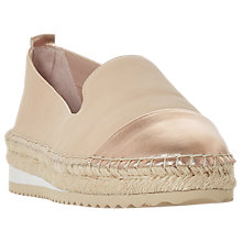 Buy Dune Gavi Contrast Toe Espadrilles, Blush Online at johnlewis.com