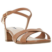 Buy Dune Jazzy Cross Strap Block Heel Sandals Online at johnlewis.com
