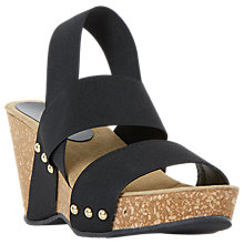 Buy Dune Kassii Wedge Heel Sandals, Black Online at johnlewis.com