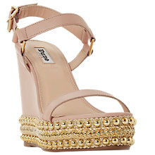 Buy Dune Kibble Embellished Wedge Heel Sandals Online at johnlewis.com