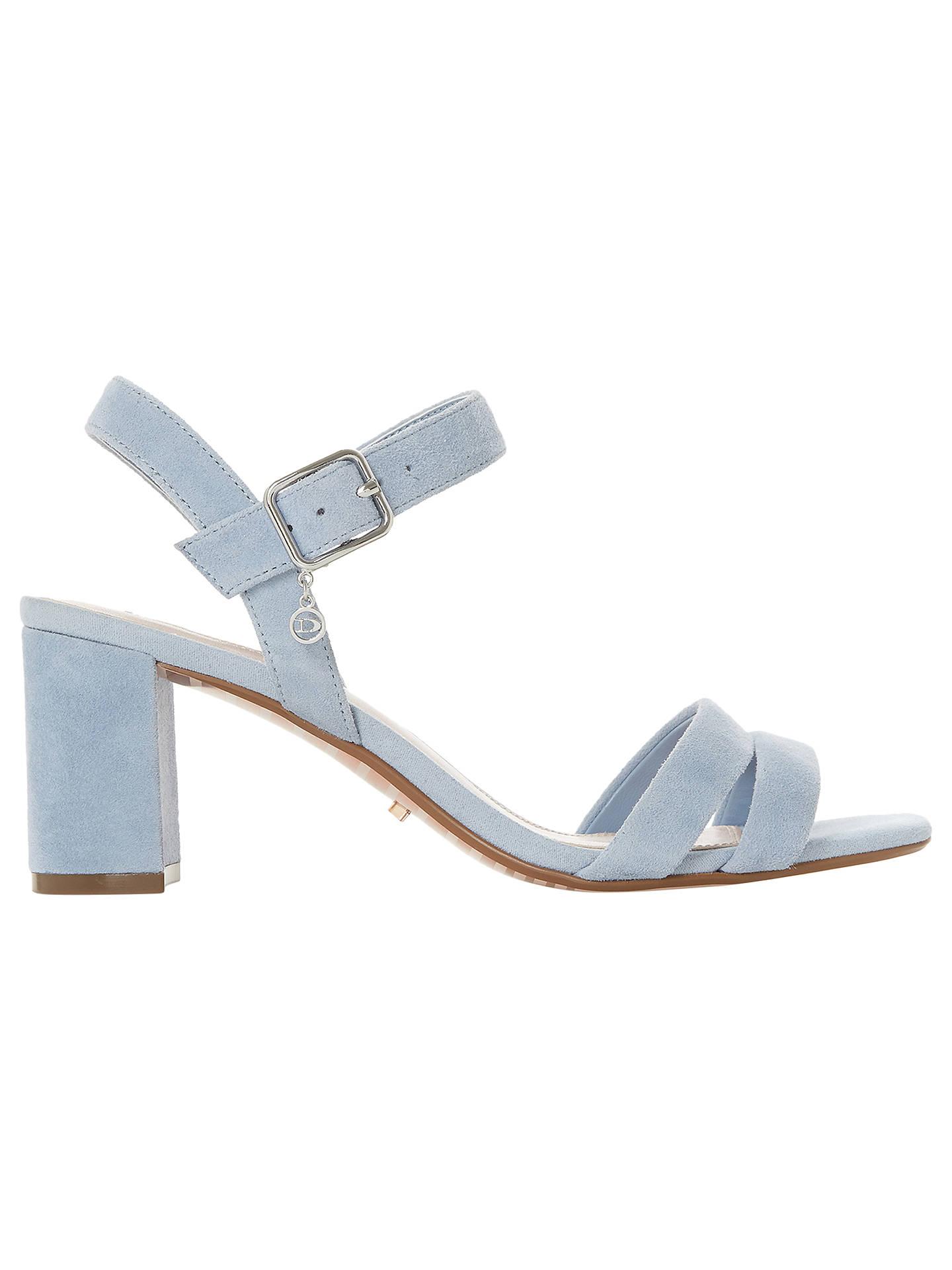 a46bae646 Buy Dune Meggan Block Heel Sandals, Blue Suede, 3 Online at johnlewis.com  ...
