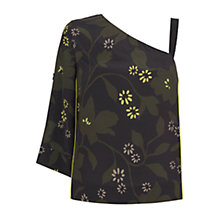 Buy Mint Velvet Bethany Floral Print One Shoulder Top, Multi Online at johnlewis.com