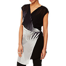 Buy Mint Velvet Cassidy Print Tunic, Black/Multi Online at johnlewis.com