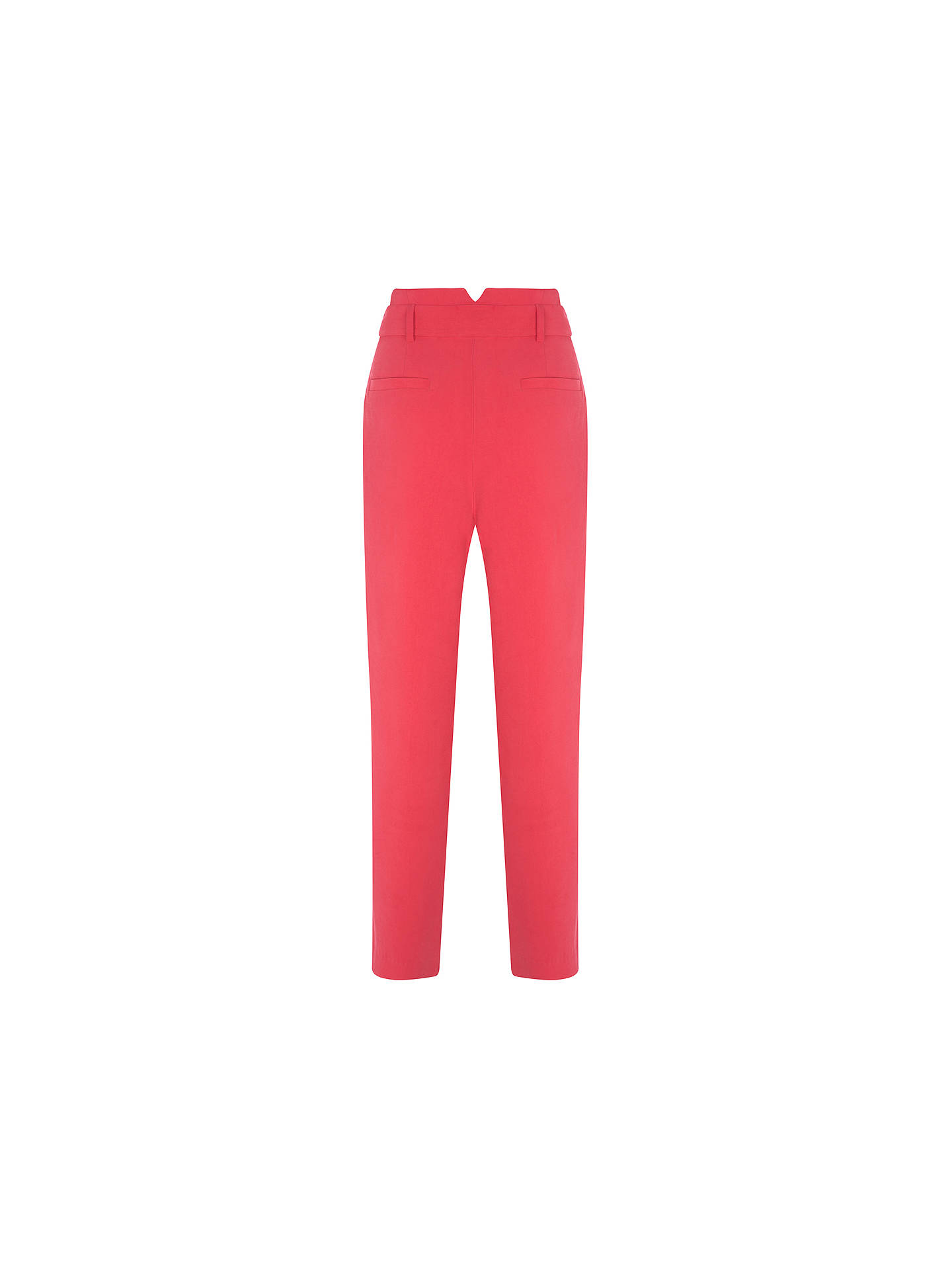 Buy Mint Velvet Belted Paperbag Trousers, Fuchsia, 12R Online at johnlewis.com