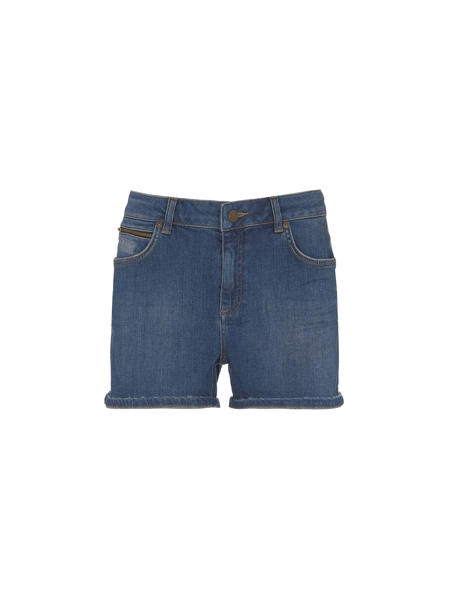 Buy Mint Velvet Indigo Denim Shorts, Blue, 14 Online at johnlewis.com