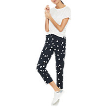 Buy Mint Velvet Sadie Print Capri Trousers, Multi Online at johnlewis.com