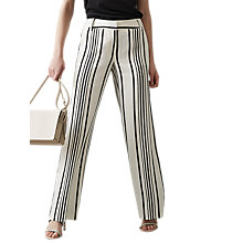 Buy Reiss Rodeo Striped Wide Leg Trousers, White/Black Online at johnlewis.com