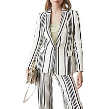 Buy Reiss Rodeo Striped Blazer Jacket, White/Black Online at johnlewis.com