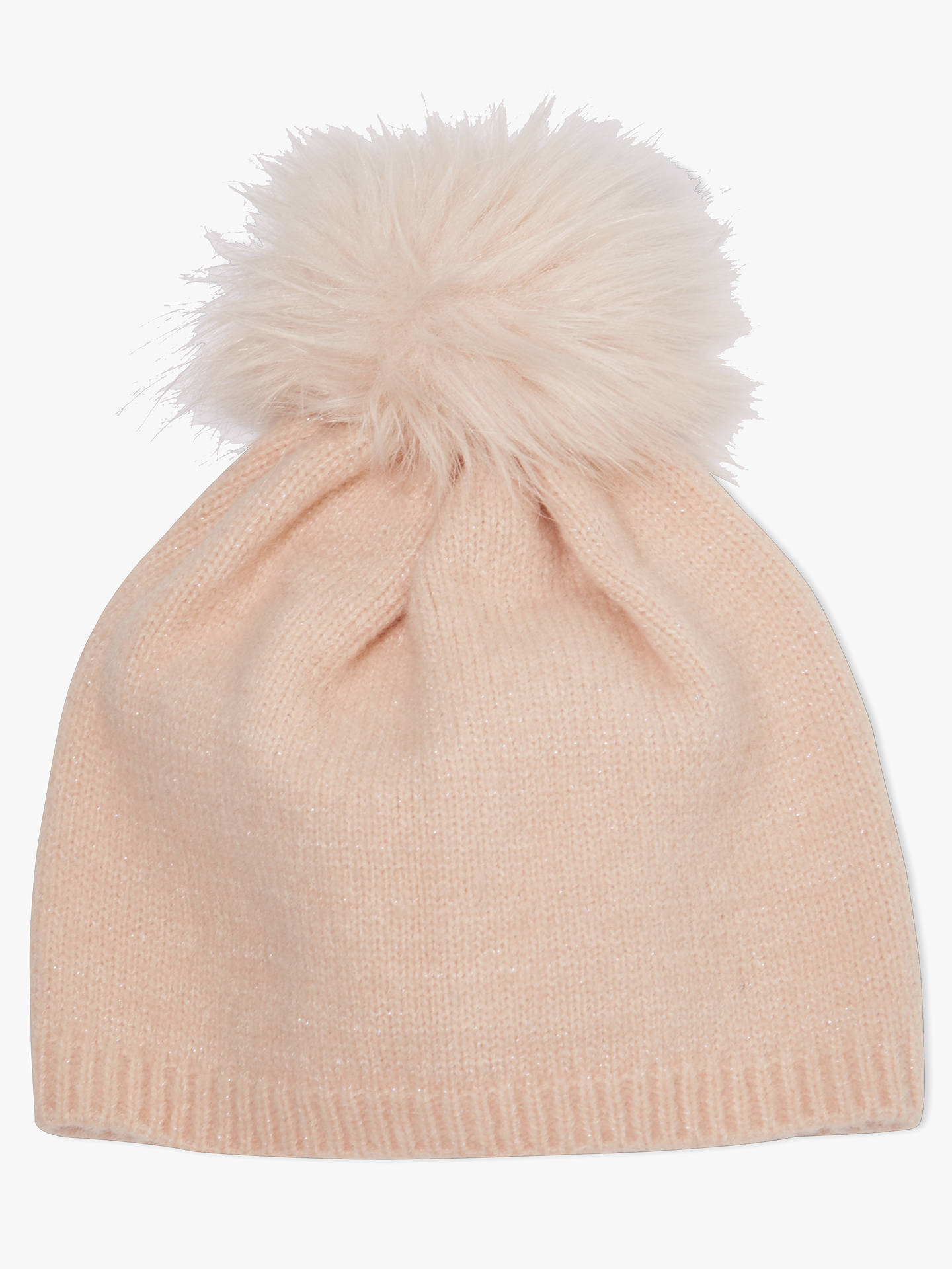 Buy John Lewis & Partners Children's Glitter Beanie Hat, Pink, 3-5 years Online at johnlewis.com
