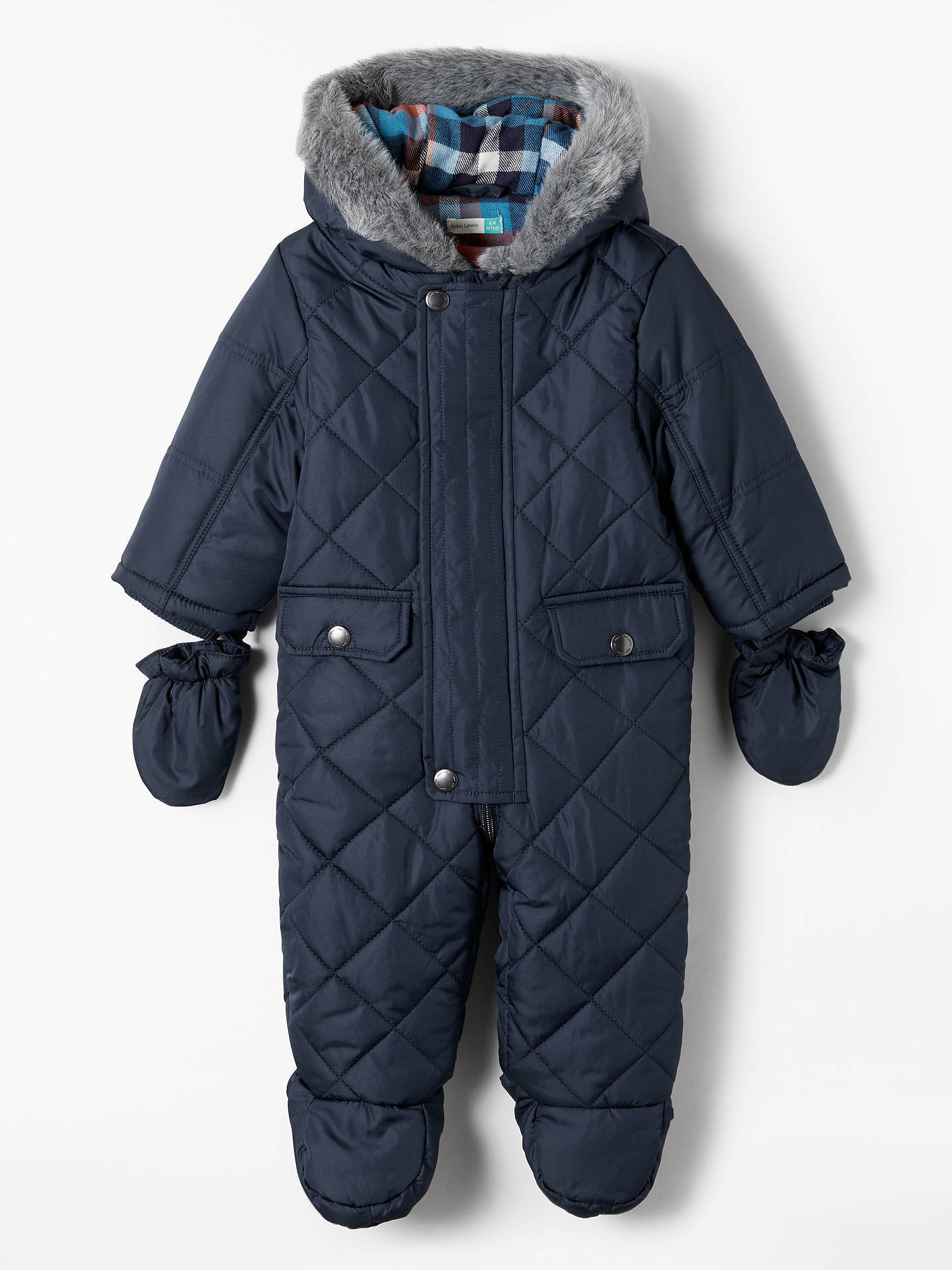 4e514a23fca8 John Lewis   Partners Baby Powder Mountain Quilted Snowsuit