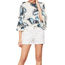 Buy Mint Velvet Distressed Denim Shorts, White Online at johnlewis.com