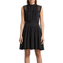 Buy AllSaints Myra Dress, Black Online at johnlewis.com