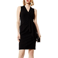 Buy Karen Millen Chic Wrap Dress, Black Online at johnlewis.com