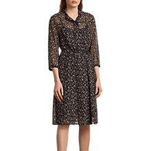 Buy AllSaints Volta Pepper Dress, Black Online at johnlewis.com