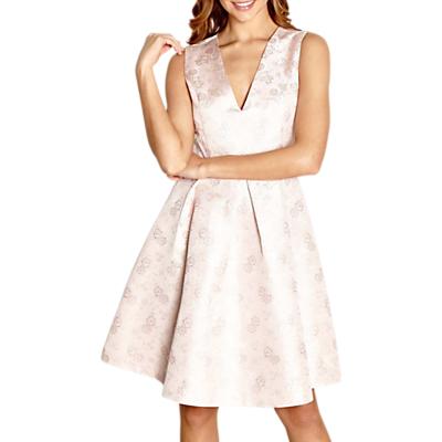 Image of Yumi Floral Jacquard Dress, Blush Pink
