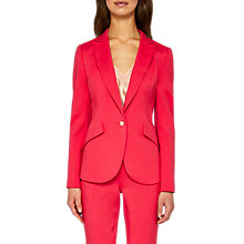 Buy Ted Baker Aniita Angular Tailored Jacket, Deep Pink Online at johnlewis.com