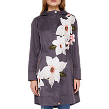 Buy Ted Baker Nannci Chatsworth Print Parka, Grey Online at johnlewis.com