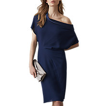 Buy Reiss Camilia Batwing Dress, Indigo Online at johnlewis.com