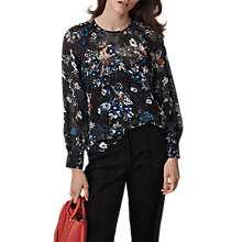 Buy Reiss Inga Floral Burnout Blouse, Multi Online at johnlewis.com