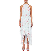 Buy Ted Baker Blossom High Low Dress, Mint Green Online at johnlewis.com