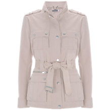 Buy Mint Velvet Zip Utility Jacket, Light Pink Online at johnlewis.com