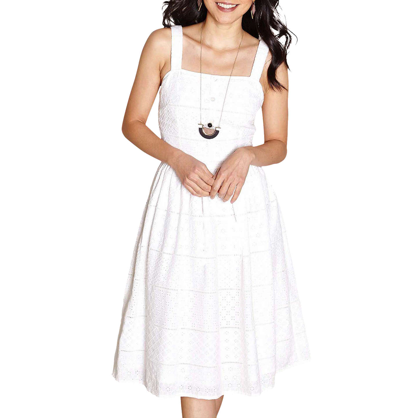 Yumi Broderie Sun Dress, Ivory by Yumi