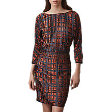Buy Reiss Lipa Check Dress, Black/Multi Online at johnlewis.com