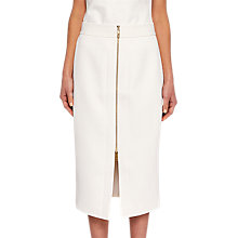 Buy Ted Baker Rosci Crepe Zip Pencil Skirt, Natural Online at johnlewis.com