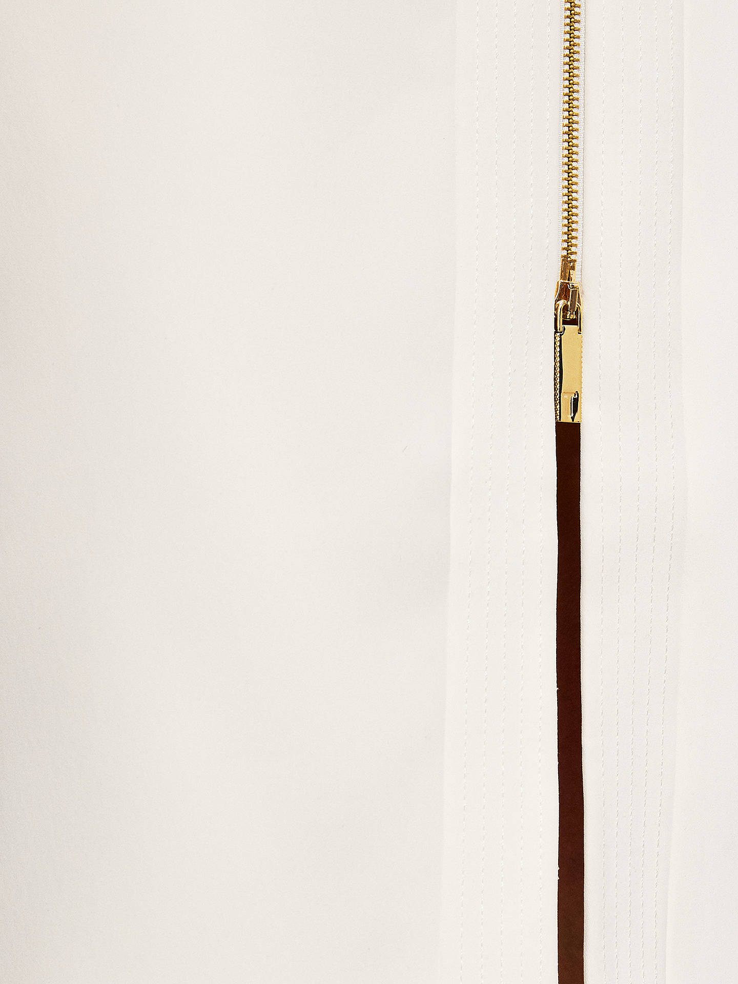 83a9f246d Buy Ted Baker Rosci Crepe Zip Pencil Skirt, Natural, 6 Online at johnlewis.