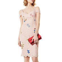Buy Karen Millen Floral Lace Dress, Pink/Multi Online at johnlewis.com