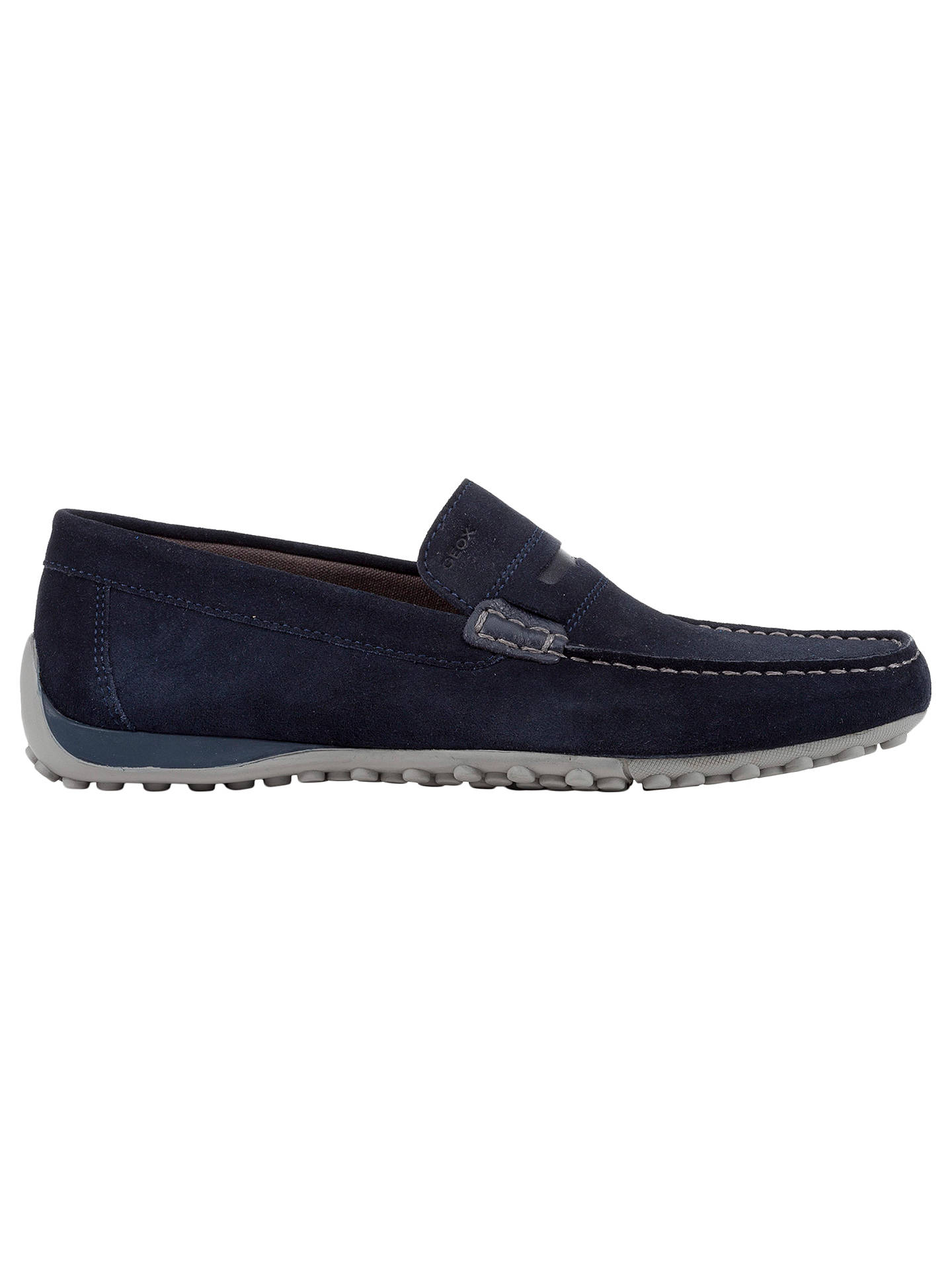edbb03f8c7cf5 Buy Geox Snake Leather Moccasins, Navy, 8 Online at johnlewis.com ...
