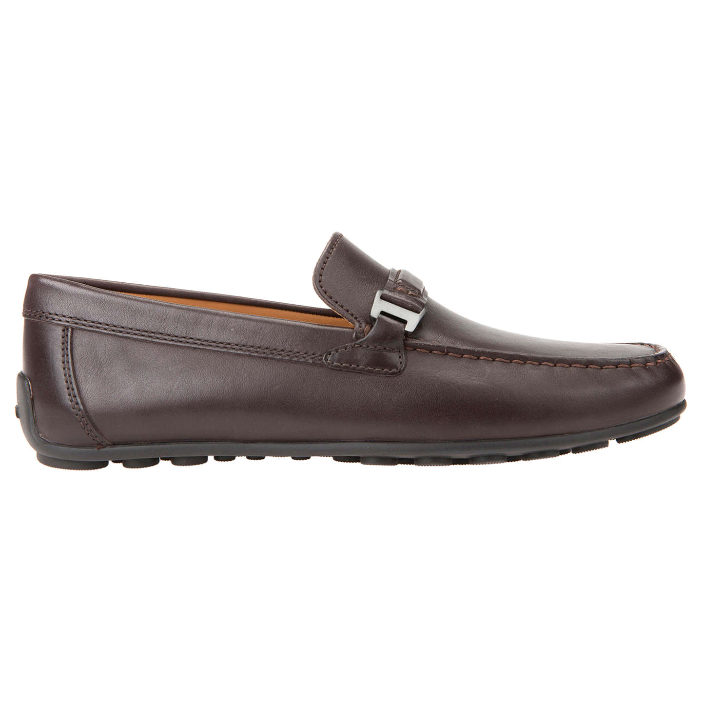BuyGeox Giona Leather Moccasins, Chocolate, 7 Online at johnlewis.com ...