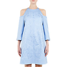 Buy Ted Baker Jettas Cut Out Shoulder Cotton-Rich Dress, Baby Blue Online at johnlewis.com