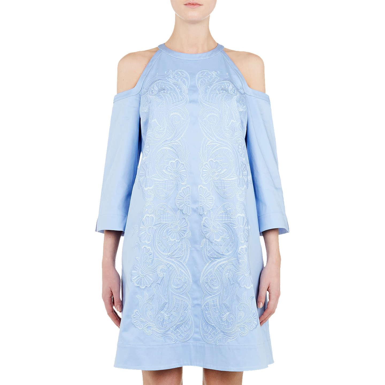 BuyTed Baker Jettas Cut Out Shoulder Cotton-Rich Dress, Baby Blue, 6 Online  ...