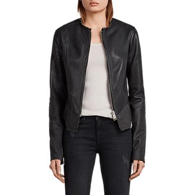 AllSaints Calle Leather Blazer, Black