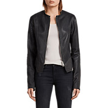 Buy AllSaints Calle Leather Blazer, Black Online at johnlewis.com