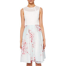 Buy Ted Baker Blossom Full Skirted Dress, Natural Online at johnlewis.com