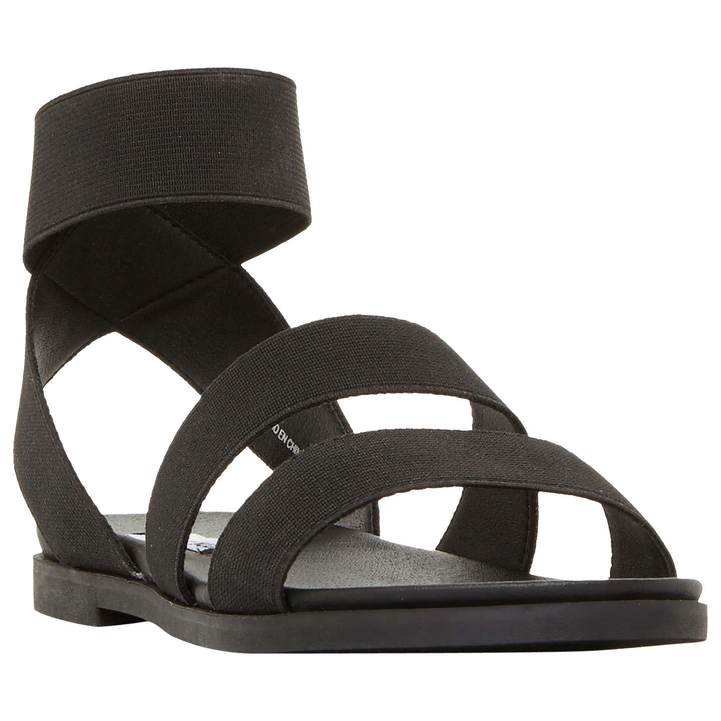 BuySteve Madden Delicious Strappy Flat Sandals, Black, 5 Online at  johnlewis.com ...