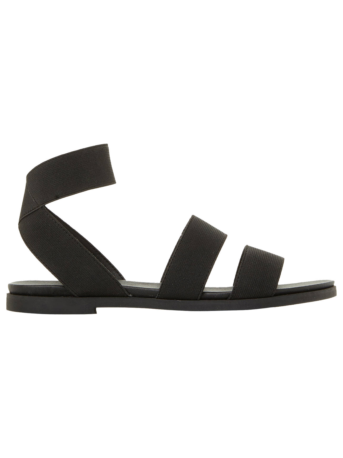 Buy Steve Madden Delicious Strappy Flat Sandals, Black, 5 Online at johnlewis.com