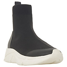 Buy Dune Everret High Top Trainers, Black Online at johnlewis.com