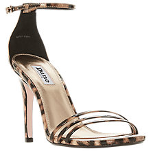 Buy Dune Marabella Stiletto Heel Sandals, Leopard Pony Online at johnlewis.com