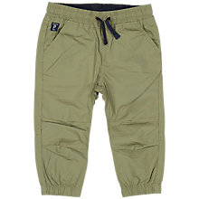Buy Polarn O. Pyret Baby Cotton Cargo Trousers, Khaki Online at johnlewis.com