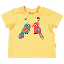 Buy Polarn O. Pyret Baby Parrot Print T-Shirt, Yellow Online at johnlewis.com