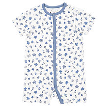 Buy Polarn O. Pyret Baby Organic Cotton Floral Playsuit, White Online at johnlewis.com