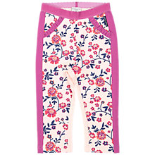Buy Polarn O. Pyret Baby Floral Print Leggings, Pink Online at johnlewis.com