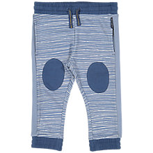 Buy Polarn O. Pyret Baby Striped Joggers, Blue Online at johnlewis.com
