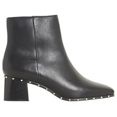 Dune Black Osca Block Heel Ankle Boots