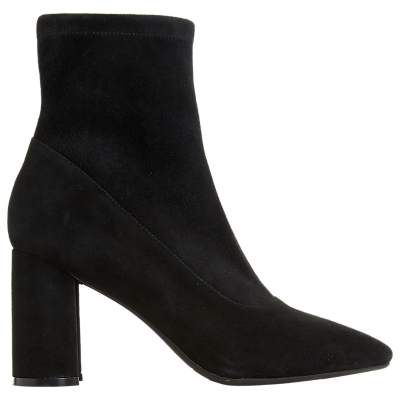 Dune Black Oslowh Block Heel Ankle Boots, Black Suede