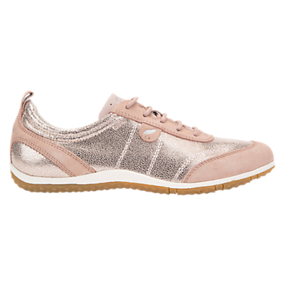 Geox Vega Lace Up Trainers, Antique Rose